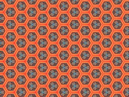 background pattern braided thread ornament soft fleece delicate geometric decor hexagon orange vintage design Banque d'images