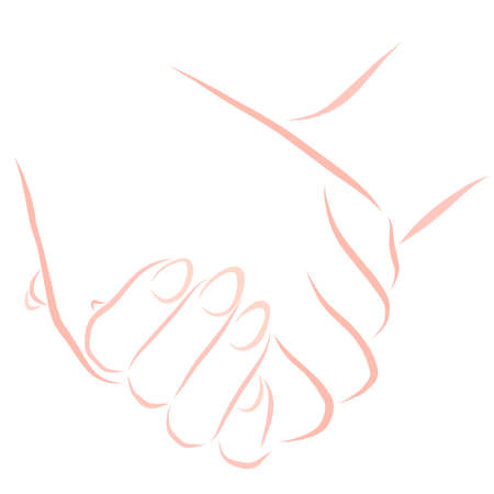 male hand holding female hand, love and friendship