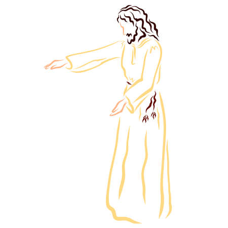Jesus heals, blesses, or calls, the Savior cares Фото со стока
