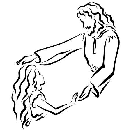 The Lord Jesus Blesses or Heals a Girl