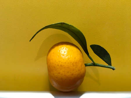 healthy food tangerine with leaves