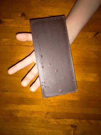Delicious sweet Nourishing chocolate in the palm of your hand