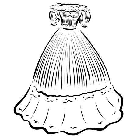 Puffy Ball Gown With Flounces For Princess Or Lady Stock Photo Picture And Royalty Free Image Image 159678461