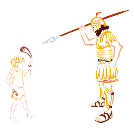 Battle of David and Goliath, Bible story