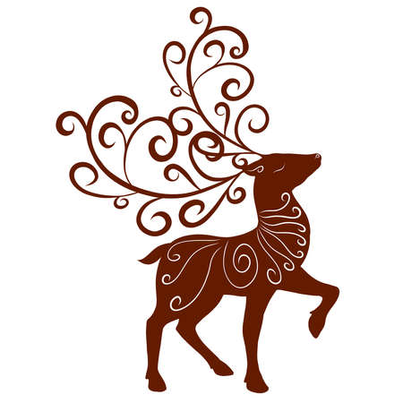 graceful deer with a pattern and ornate large antlers Standard-Bild