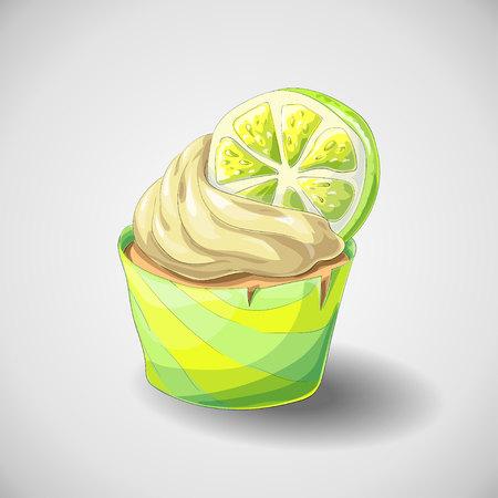 Citrus cupcake