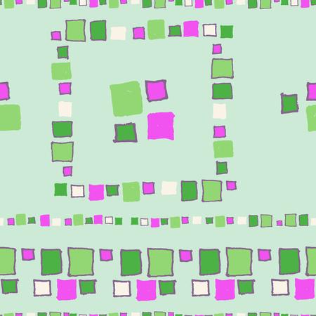 Seamless pattern grunge cubes.