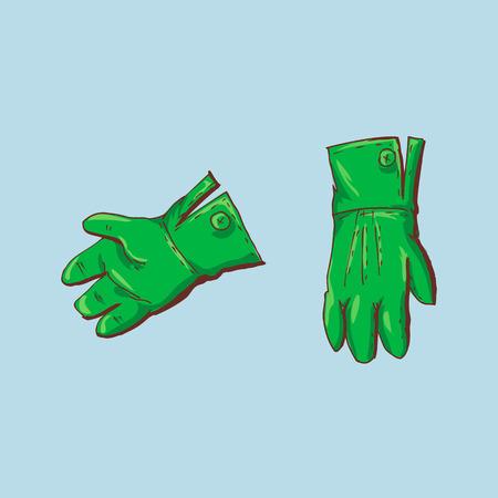St Patrick s Day Pick Gloves. Vector illustration.