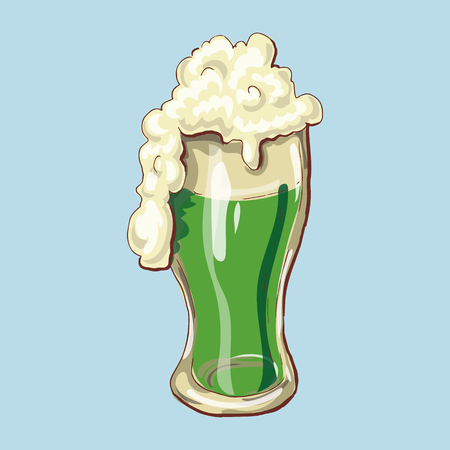 Cheers Happy St. Patrick s Day Beer Mugs. Vector illustration Illustration
