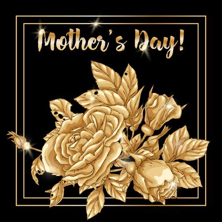 Happy mother day, birthday, Valentine s day and seasonal holiday. Vector illustration. Illustration