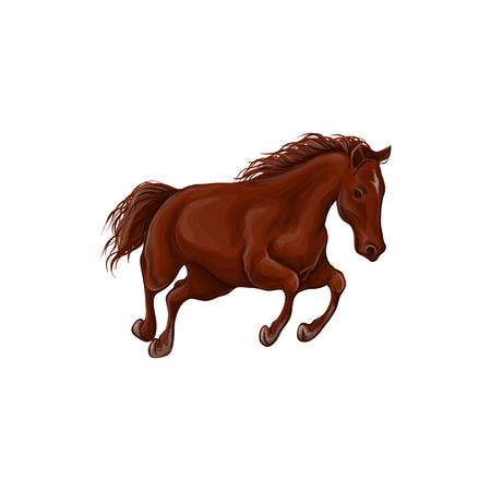 Un cheval se dresse, fauve, illustration vectorielle dans un style réaliste.