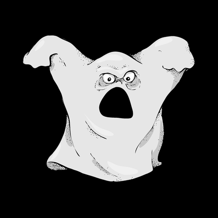 Halloween character is a frightening ghost.