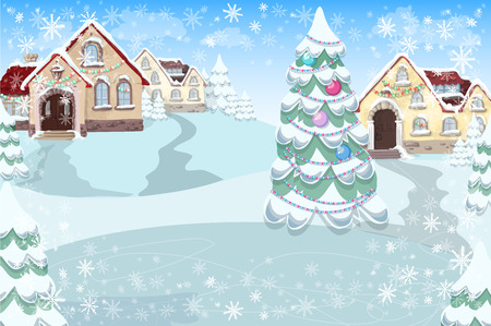 Marry christmas cover art, Happy new year background, Vector illustration