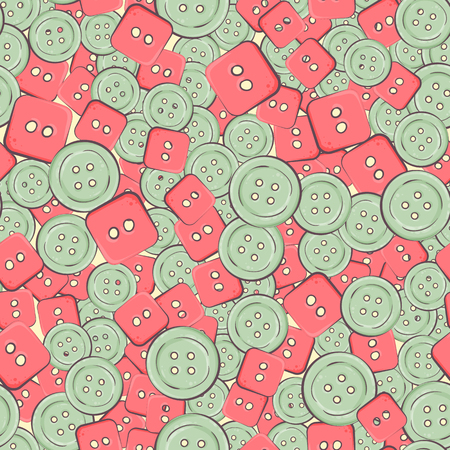 Seamless background with colorful buttons. vector illustration.