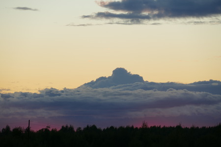 The image of clouds clouds evening sky. Natural illustration. Photography