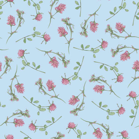 Clover seamless pattern. Watercolor illustration 免版税图像