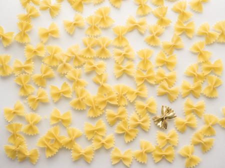 Pattern of yellow pasta
