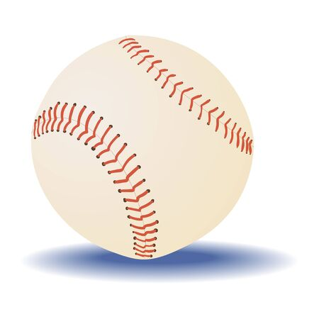 Baseball ball isolated on a white background. Vector.