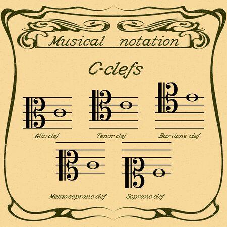 C-clefs. Vector.