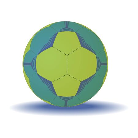 Handball ball isolated on a white background. Vector.