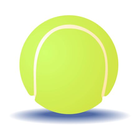 Tennis ball isolated on a white background. Vector.