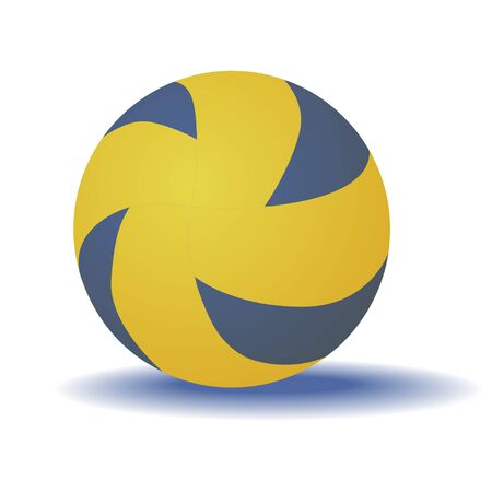 Volleyball ball isolated on a white background. Vector.