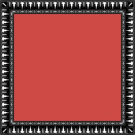 Square frame with greek floral ornament. Ancient Greek ornament style. Vector.  일러스트