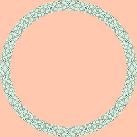 Persian traditional ornament. Round frame with floral ornament. Ancient traditions. Vector. Иллюстрация