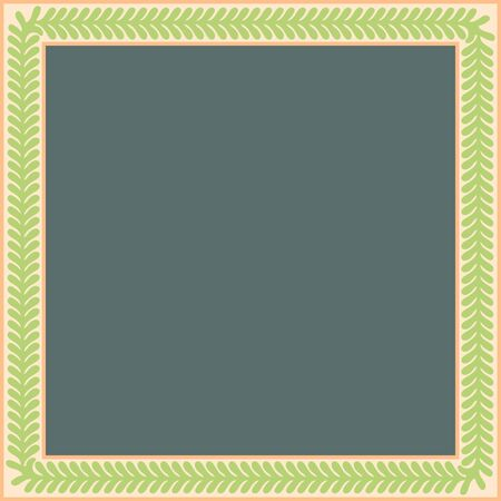 Persian traditional ornament. Square frame with floral ornament. Ancient traditions. Vector.