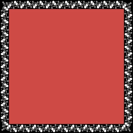 Square frame with greek floral ornament. Ancient Greek ornament style. Vector.