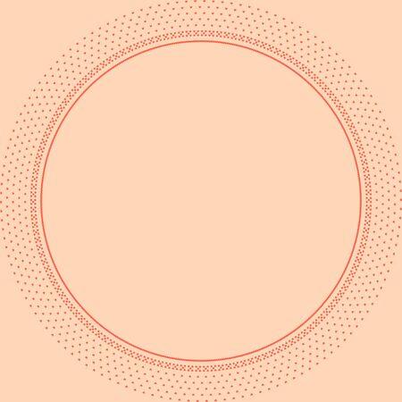 Ornement traditionnel norvégien. Cadre rond avec ornement géométrique. Modèle de tricot. Vecteur.