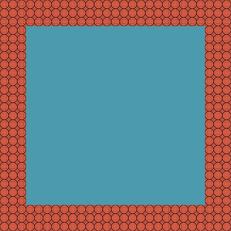 Persian traditional ornament. Square frame with geometric ornament. Ancient traditions. Vector.