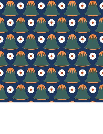 Egyptian traditional ornament. Seamless pattern with floral ornament. Ancient traditions. Vector.