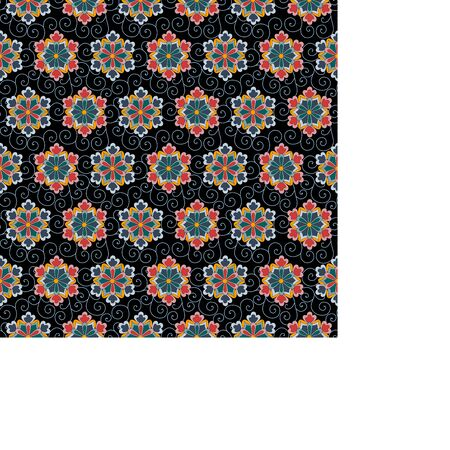 Japanese traditional ornament. Seamless pattern with floral ornament. Ancient traditions. Vector.