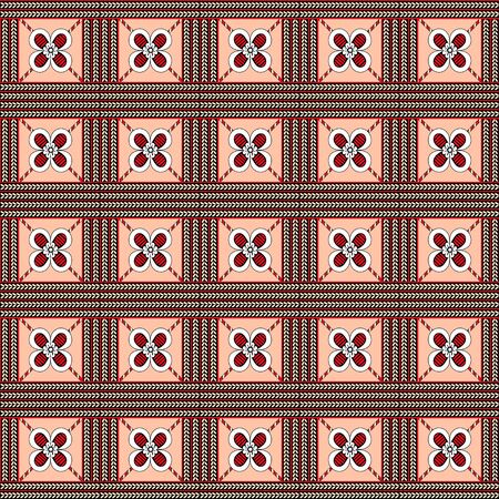 African traditional ornament. Seamless pattern with floral ornament. Ancient traditions. Vector. Ilustração