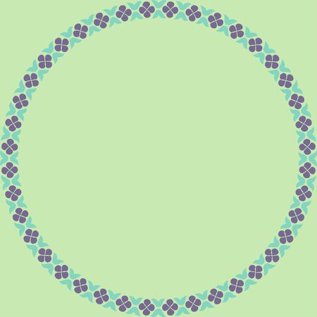 Persian traditional ornament. Round frame with floral ornament. Ancient traditions. Vector. 向量圖像