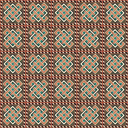 Medieval ornament. Seamless pattern with geometric ornament. Ancient traditions. Vector.