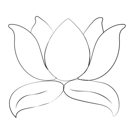 Lotus flower and leaves. Design for natural cosmetics, health care. Vector. Ilustrace