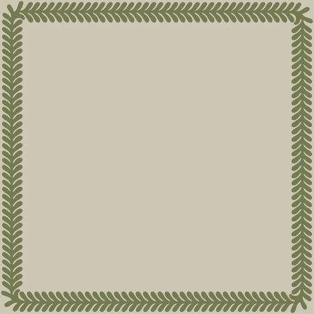 Persian traditional ornament. Square frame with floral ornament. Ancient traditions. Vector. 일러스트