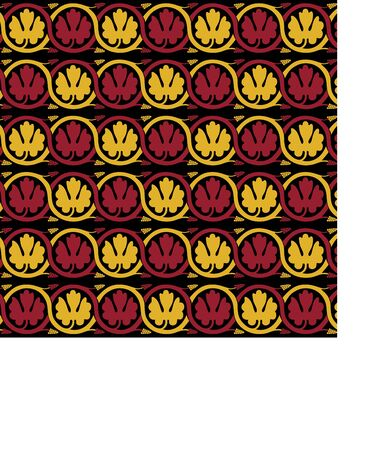 Medieval ornament. Seamless pattern with floral ornament. Ancient traditions. Vector.