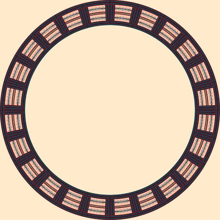African traditional ornament. Round frame with floral ornament. Ancient traditions. Vector. Banque d'images - 140908683