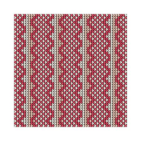 Norwegian traditional ornament. Seamless pattern with geometric ornament. Knitting Pattern. Vector.