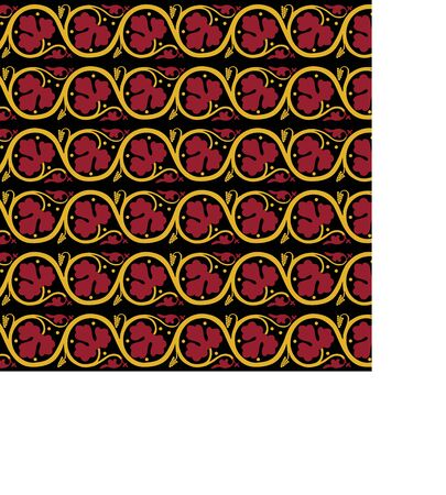 Medieval ornament. Seamless pattern with floral ornament. Ancient traditions. Vector. Banque d'images - 143091574