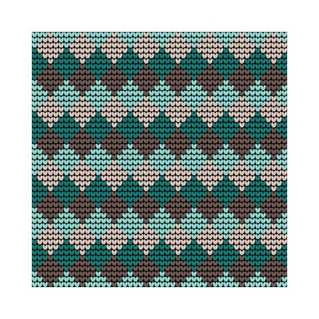 Norwegian traditional ornament. Seamless pattern with geometric ornament. Knitting Pattern. Vector. Banque d'images - 144839914