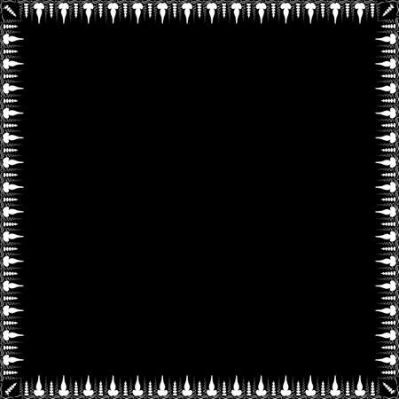 Square frame with greek floral ornament. Ancient Greek ornament style. Vector. Vecteurs