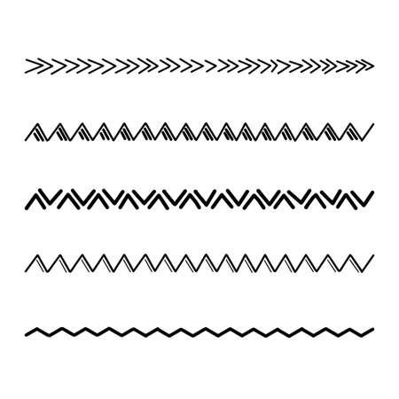 Decorative lines. Set of decorative dividers. Vector.