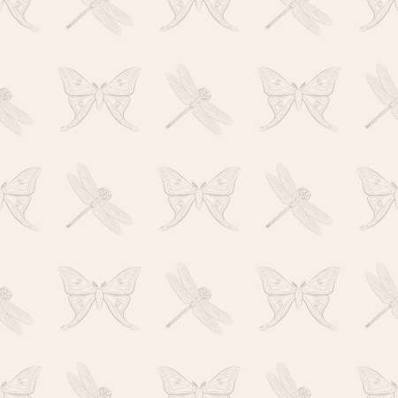 Seamless pattern with insects. Element for design. Vector.