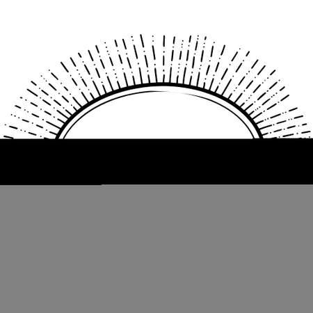 Decorative frame. Black frame isolated on white background. Element for design. Vector.