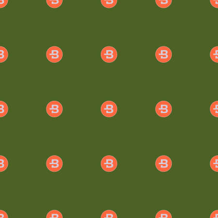 Background of cryptocurrency coin. Seamless pattern with Bytecoin. Vector.