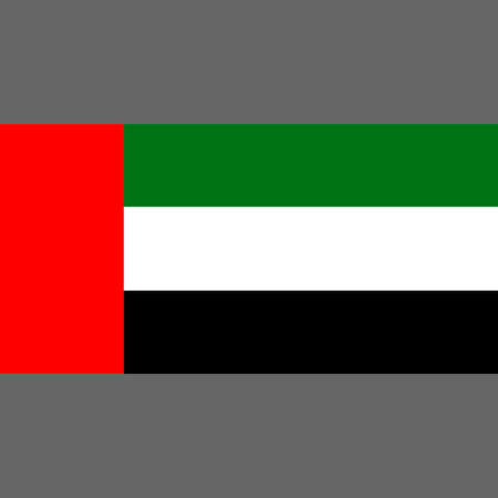 State flag of United Arab Emirates. Digital reproduction. Vector.